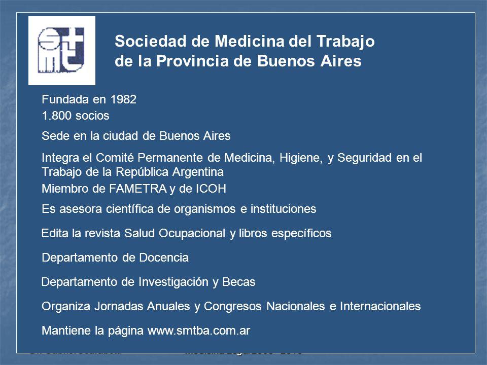 Dr. Gabriel Scarabotti UNC- ESSA - Especialización en Medicina Legal 2009 - 2010 Sociedad de Medicina del Trabajo de la Provincia de Buenos Aires Fund