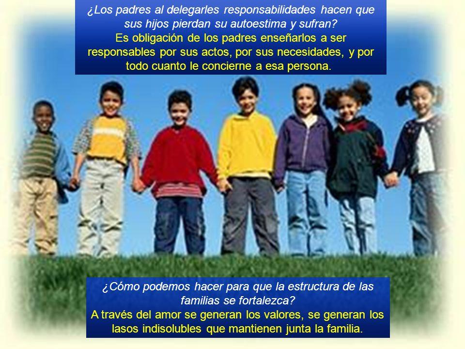 ¿Los padres al delegarles responsabilidades hacen que sus hijos pierdan su autoestima y sufran.