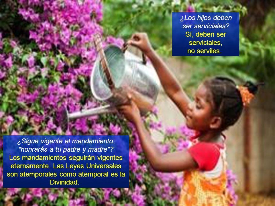 ¿Los hijos deben ser serviciales.Sí, deben ser serviciales, no serviles.