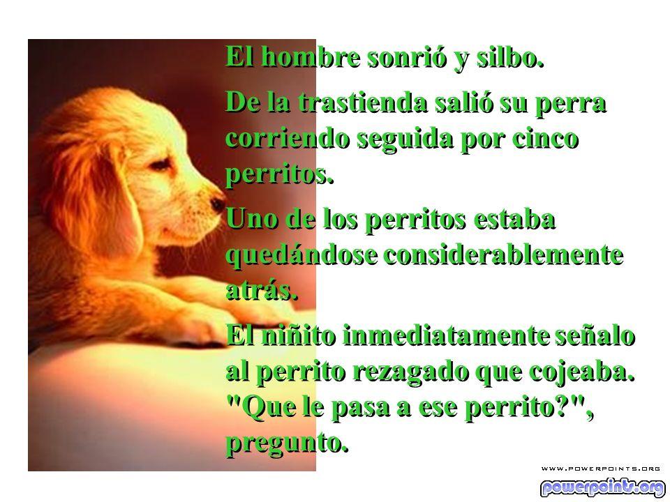 El hombre le explico que cuando el perrito nació, el veterinario le dijo que tenia una cadera defectuosa y que cojearía por el resto de su vida.