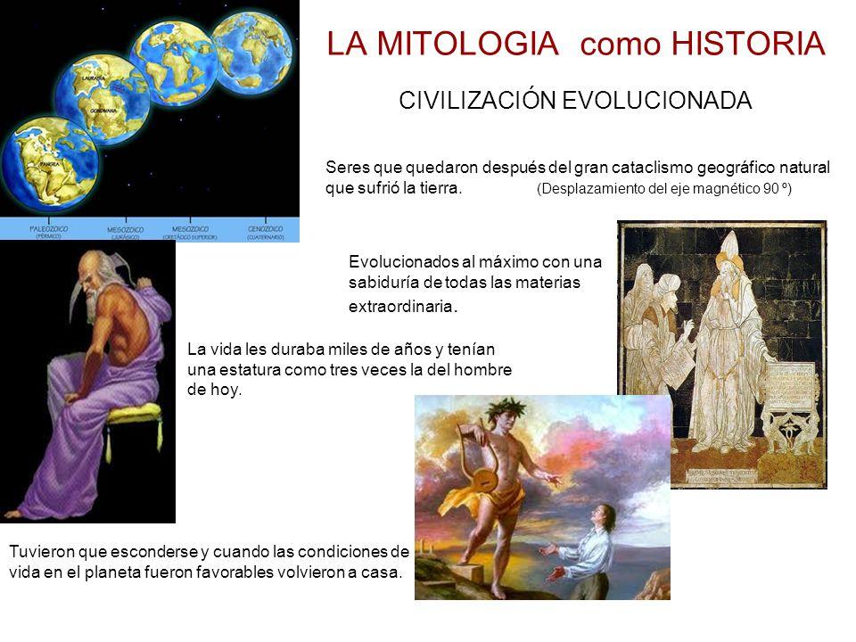 LA MITOLOGIA como HISTORIA CIVILIZACIÓN EVOLUCIONADA Seres que quedaron después del gran cataclismo geográfico natural que sufrió la tierra.