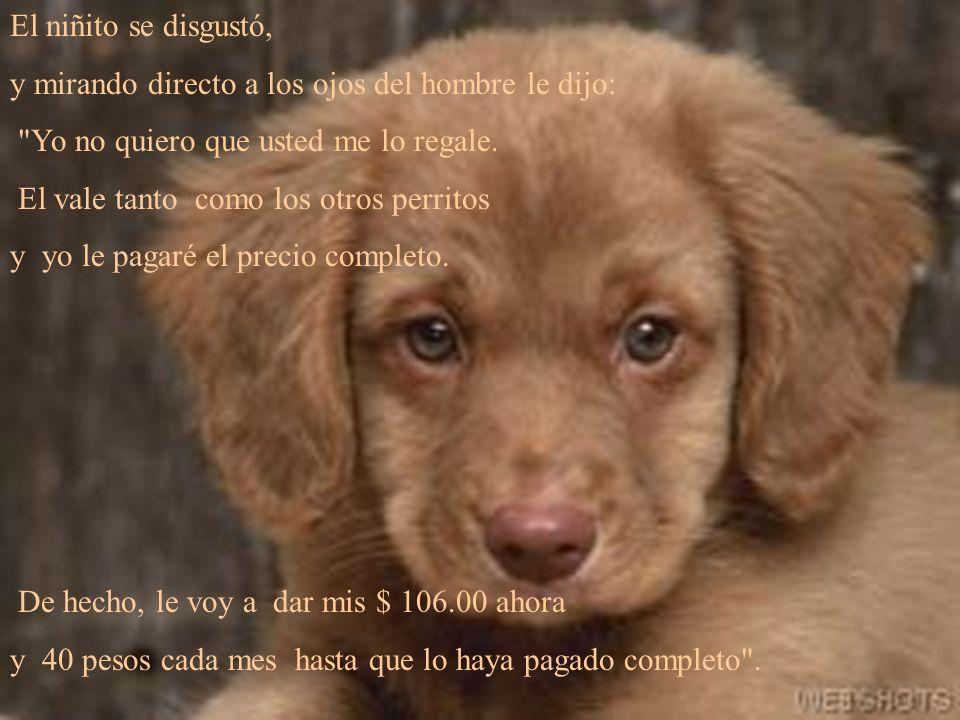 El hombre le explicó que cuando el perrito nació, el veterinario le dijo que tenía la cadera defectuosa y que cojearía por el resto de su vida.