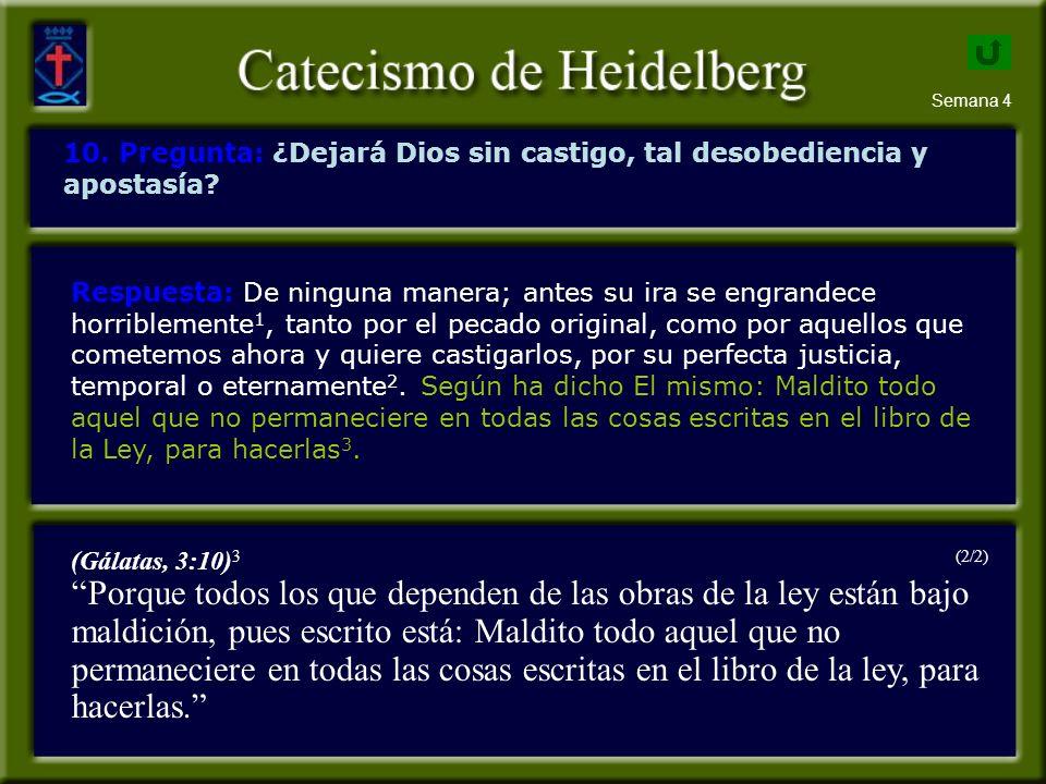 Semana 4 10.Pregunta: ¿Dejará Dios sin castigo, tal desobediencia y apostasía.