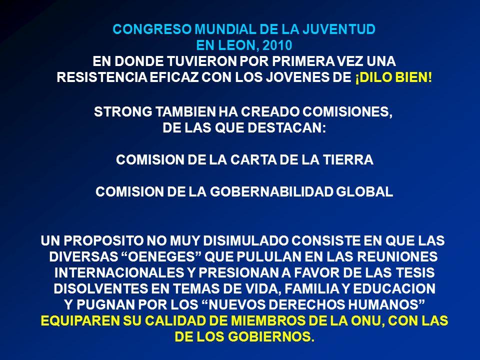 CONGRESO MUNDIAL DE LA JUVENTUD EN LEON, 2010 EN DONDE TUVIERON POR PRIMERA VEZ UNA RESISTENCIA EFICAZ CON LOS JOVENES DE ¡DILO BIEN! STRONG TAMBIEN H