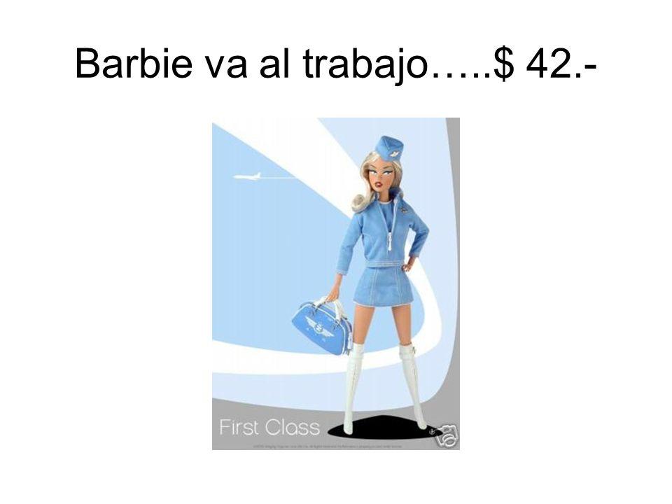 Barbie va al gimnasio… $ 60.-