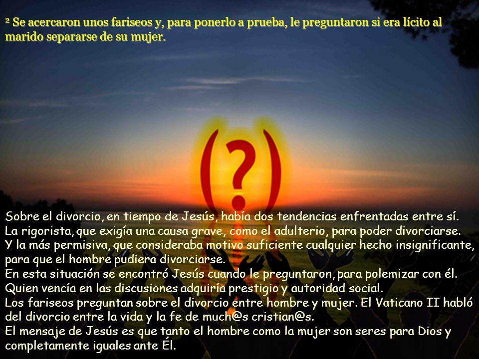 El movimiento de Jesús, que prepara y anticipa el reino de Dios, no ha de ser un grupo dirigido por hombres fuertes que se imponen a los demás desde a