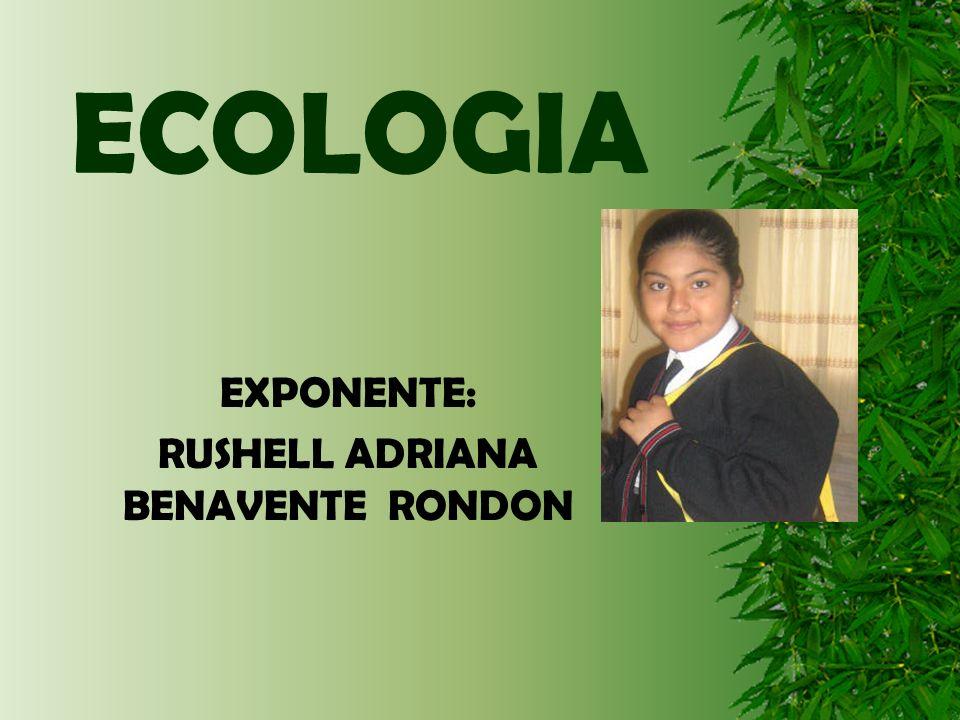 ECOLOGIA EXPONENTE: RUSHELL ADRIANA BENAVENTE RONDON