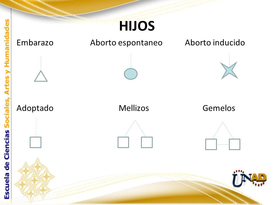 Si la pareja tiene varios hijos se colocan en izquierda a derecha de acuerdo al orden de nacimiento siendo el mayor el primero de colocar.