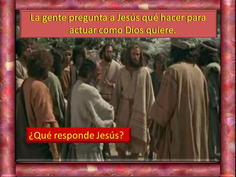 ¿Qué reclama Jesús a la gente que ha ido a buscarle?
