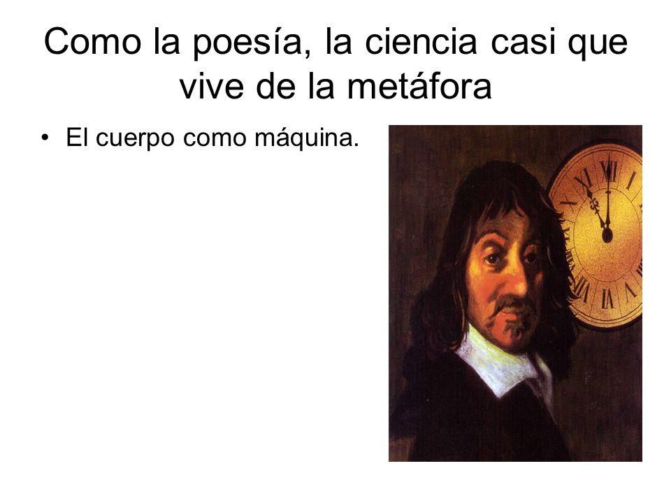 Como la poesía, la ciencia casi que vive de la metáfora El cuerpo como máquina.