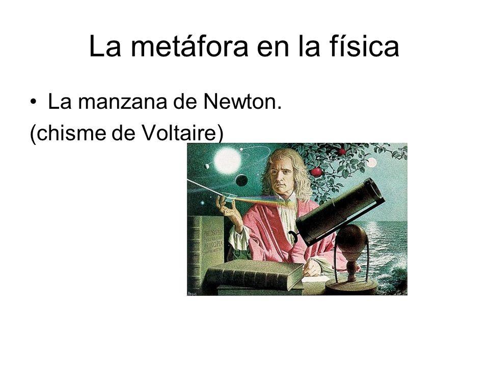 La metáfora en la física La manzana de Newton. (chisme de Voltaire)