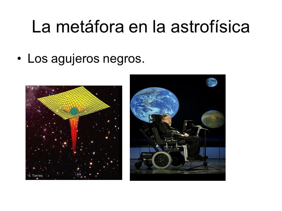 La metáfora en la astrofísica Los agujeros negros.