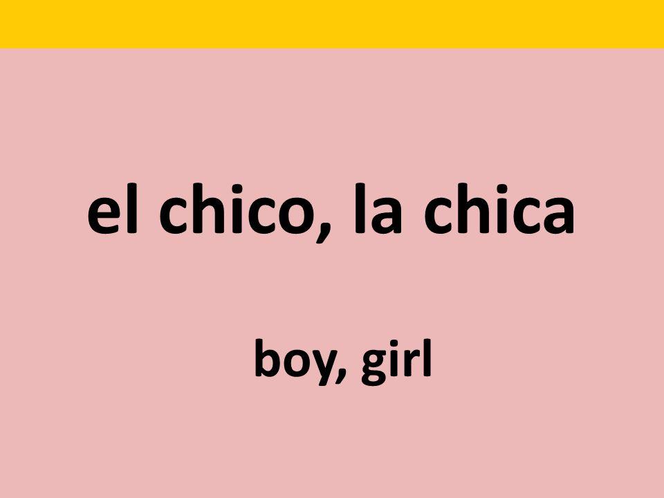 el chico, la chica boy, girl