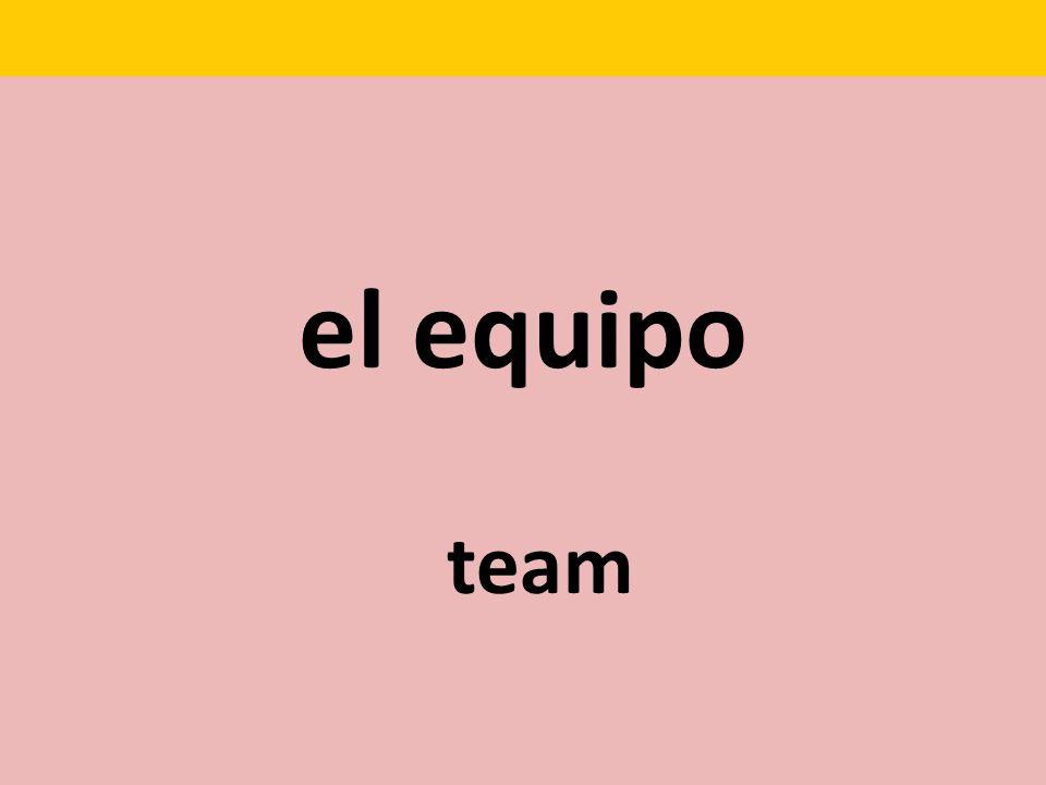 el equipo team