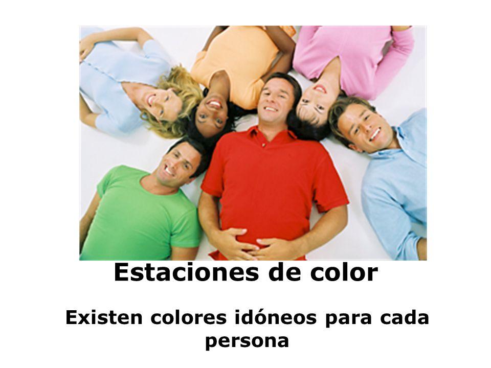 Estaciones de color Existen colores idóneos para cada persona