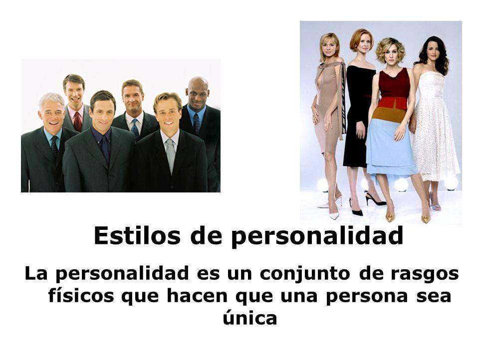 La personalidad es un conjunto de rasgos físicos que hacen que una persona sea única