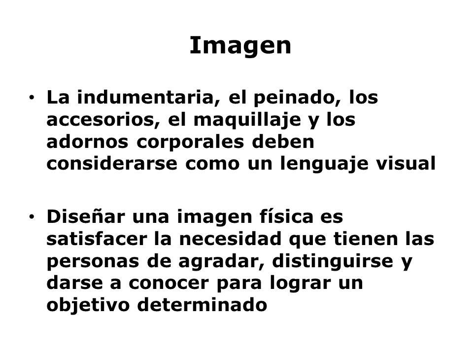 Imagen La indumentaria, el peinado, los accesorios, el maquillaje y los adornos corporales deben considerarse como un lenguaje visual Diseñar una imag