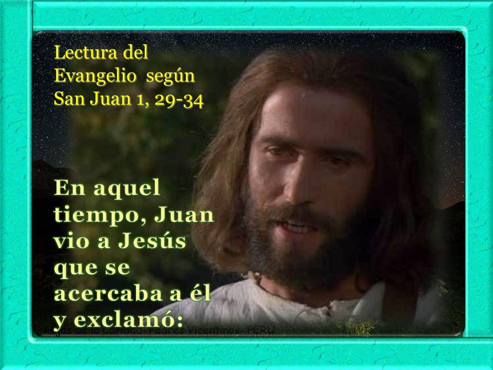I. LECTIO ¿ Qué dice el texto – Juan 1, 29-34 Motivación: