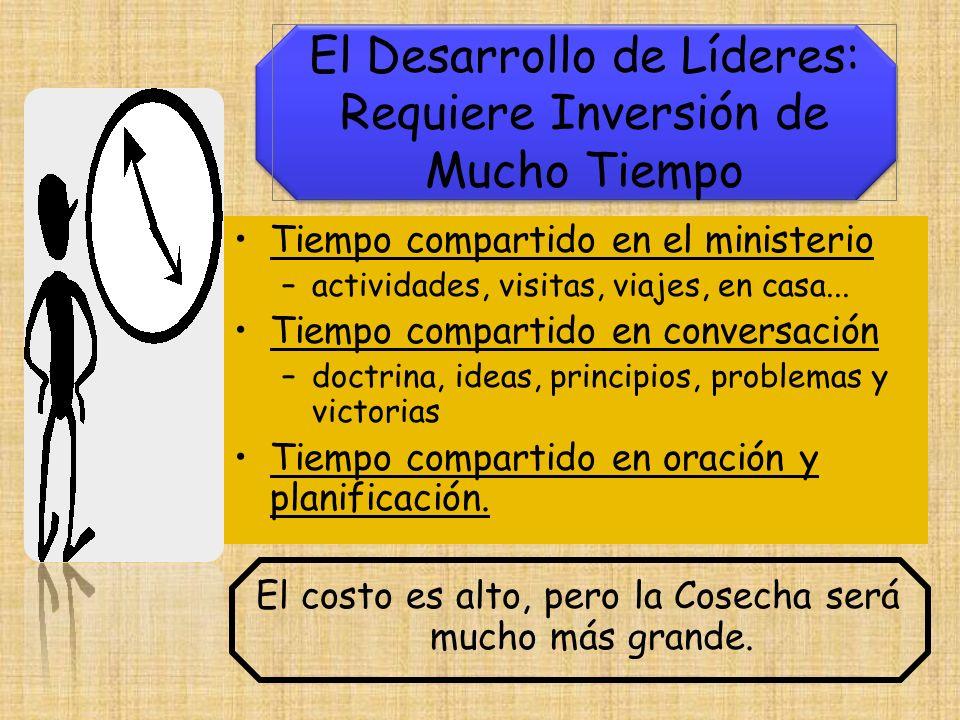 Tiempo compartido en el ministerio –actividades, visitas, viajes, en casa... Tiempo compartido en conversación –doctrina, ideas, principios, problemas
