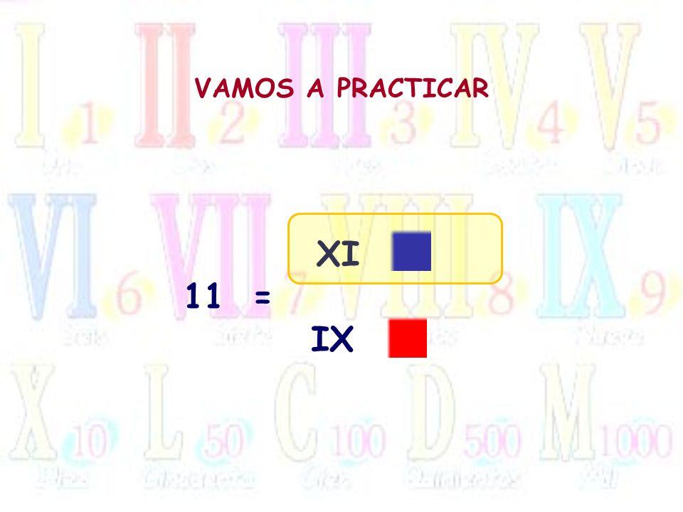 VAMOS A PRACTICAR 11= XI IX