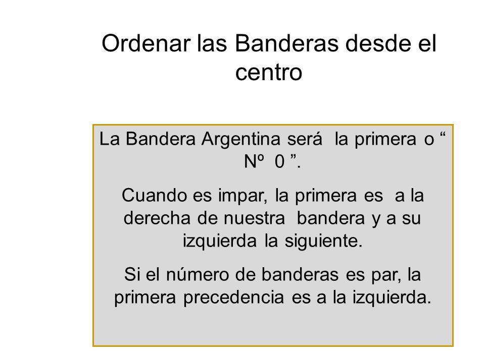 La Bandera Argentina será la primera o Nº 0.