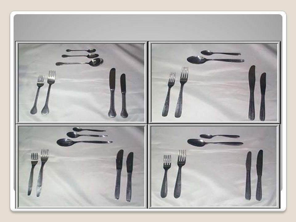 Orden para realizar el montaje de las mesas: Marcar plato de presentación.