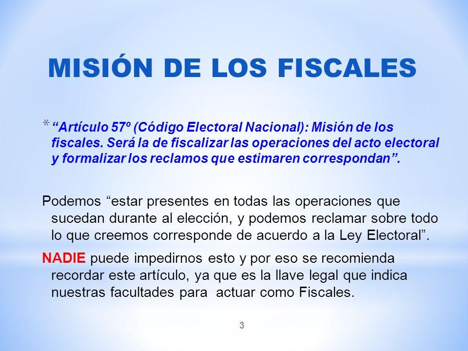 Artículo 56º (Código Electoral Nacional).
