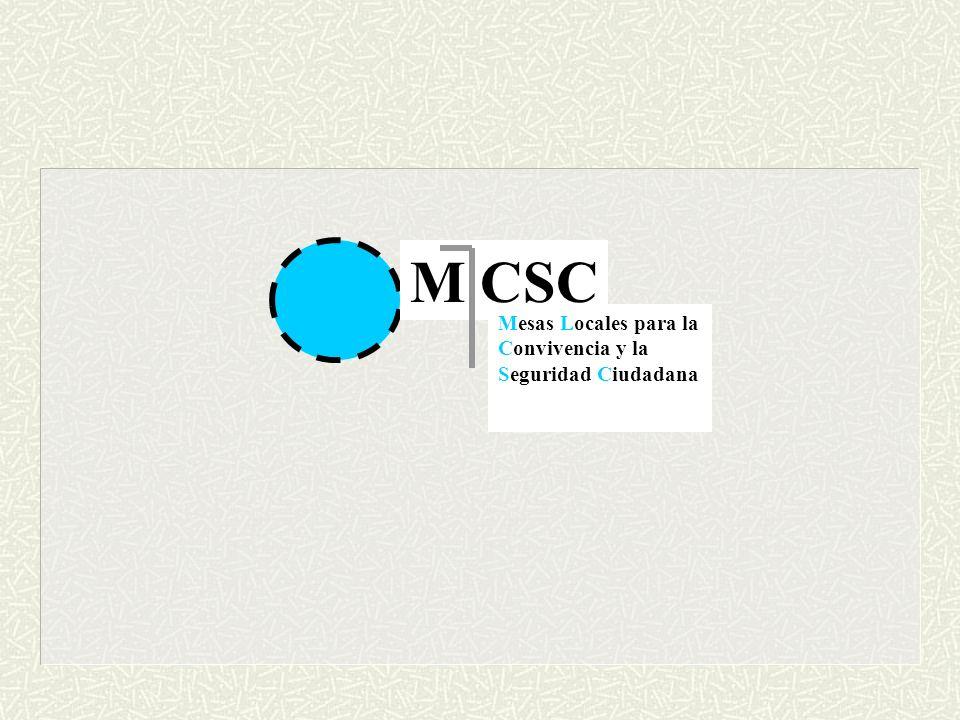 M CSC Mesas Locales para la Convivencia y la Seguridad Ciudadana