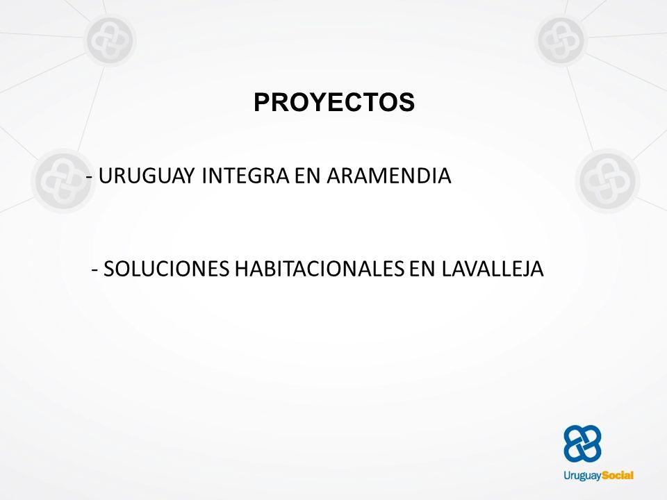 PROYECTOS - URUGUAY INTEGRA EN ARAMENDIA - SOLUCIONES HABITACIONALES EN LAVALLEJA