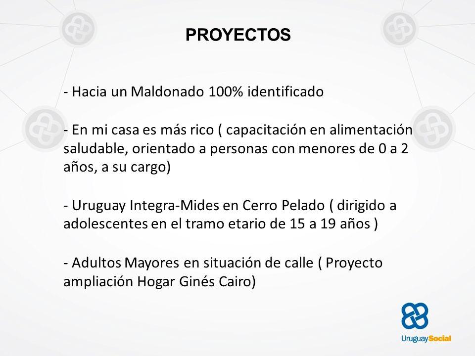PROYECTOS - Hacia un Maldonado 100% identificado - En mi casa es más rico ( capacitación en alimentación saludable, orientado a personas con menores d