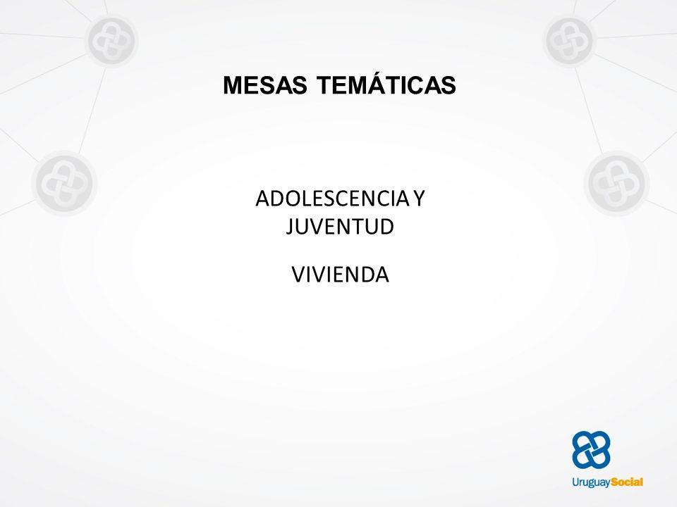 MESAS TEMÁTICAS ADOLESCENCIA Y JUVENTUD VIVIENDA