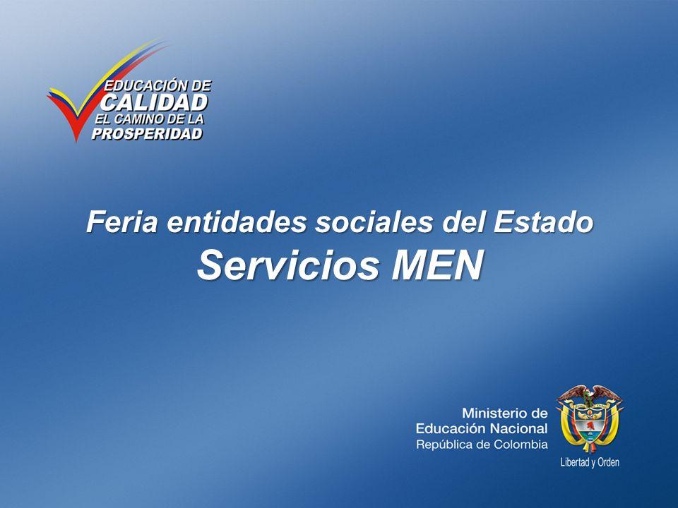 Feria entidades sociales del Estado Servicios MEN