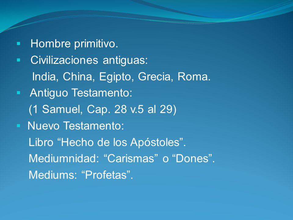 Hombre primitivo.Civilizaciones antiguas: India, China, Egipto, Grecia, Roma.