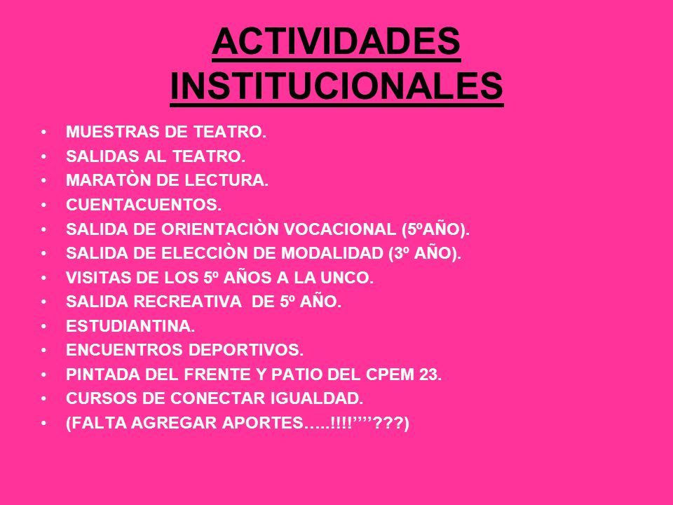 ACTIVIDADES INSTITUCIONALES MUESTRAS DE TEATRO. SALIDAS AL TEATRO.
