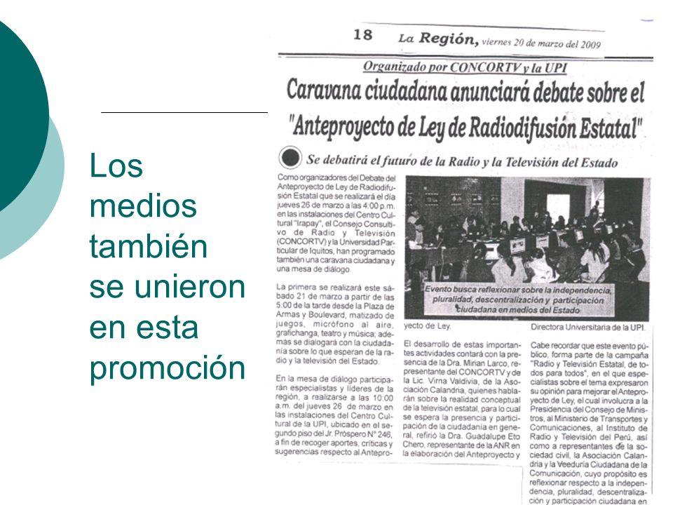 Inquietudes pendientes desde las regiones La mayoría sigue pensando que el dueño de Canal 7 y Radio Nacional es el gobierno central, por lo que se debe seguir promoviendo la naturaleza Pública de los medios estatales.