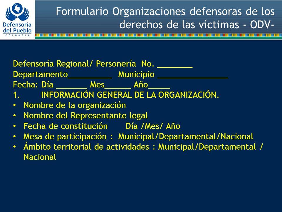 Defensoría Regional/ Personería No.