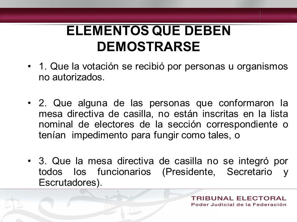 ELEMENTOS QUE DEBEN DEMOSTRARSE 1.