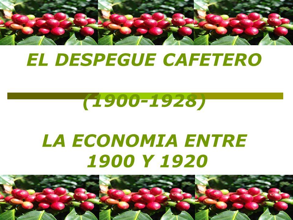 - En el año 1870 la economía cafetera empezaba a prosperar en los departamentos de Cundinamarca y Santander pero con la guerra de los mil días estas regiones se vieron afectadas por los enfrentamientos bélicos que allí se realizaron.