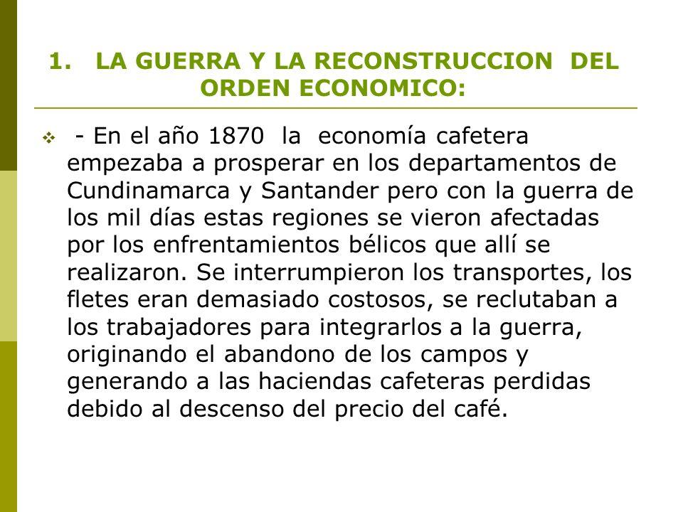 - En Bogota y Cundinamarca, se instala la cervecería bavaria, la fabrica de cementos, dos fabricas de tejidos, la industria nacional de fósforos y fabrica de calzado.