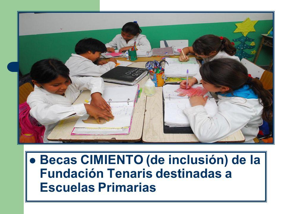 Becas CIMIENTO (de inclusión) de la Fundación Tenaris destinadas a Escuelas Primarias