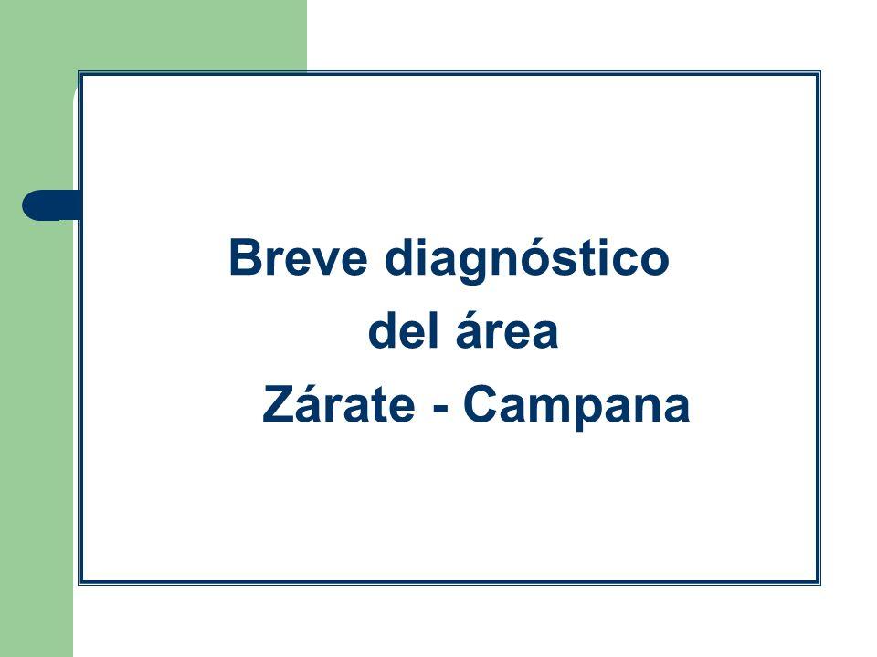 Breve diagnóstico del área Zárate - Campana