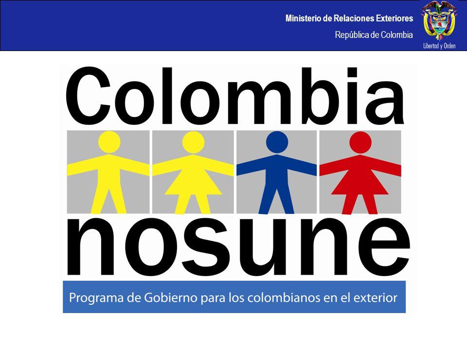 Ministerio de Relaciones Exteriores República de Colombia LONDRES La red de la mesa de Negocios cuenta con mas de 500 colombianos inscritos.