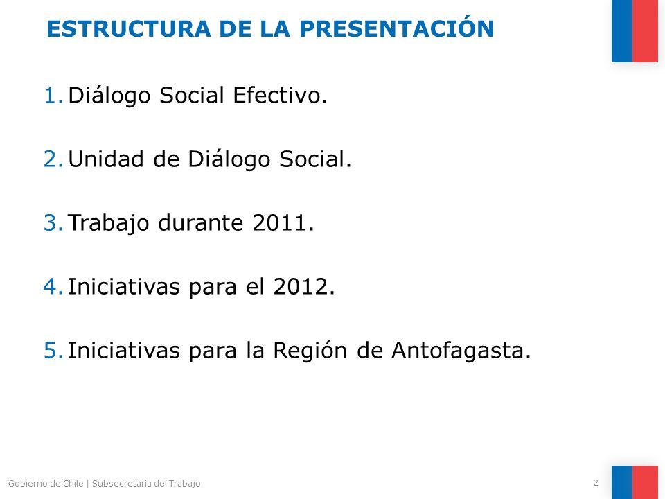 Mayores recursos.Incremento de 69% en Programa de Diálogo Social.
