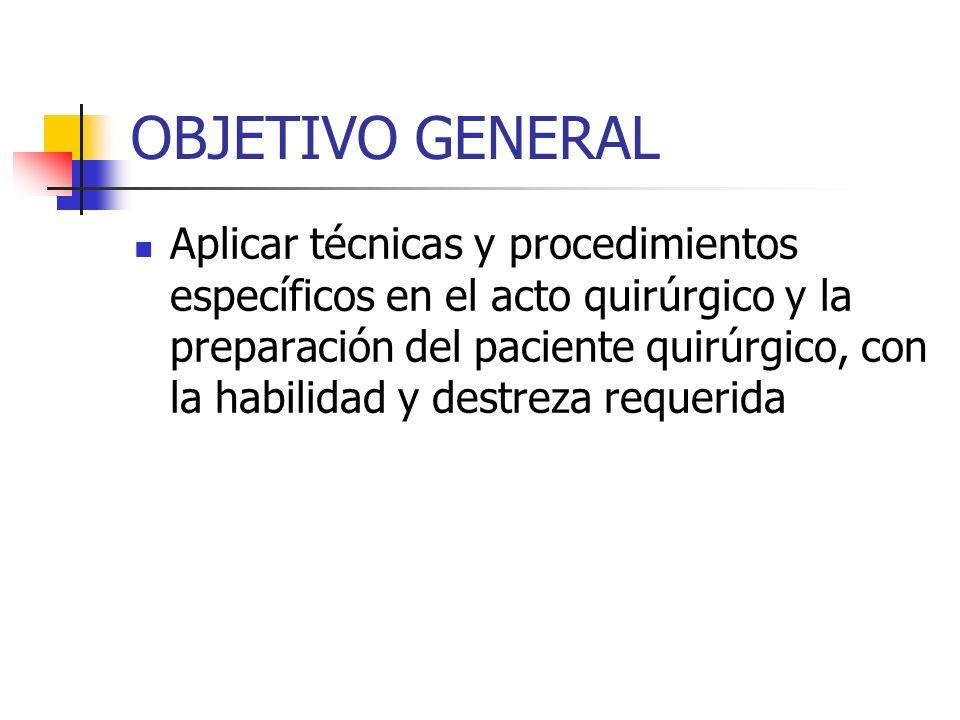 Anestesista Responsable de la inducción de la anestesia, control y tratamiento de las reacciones que deriven durante la operación.