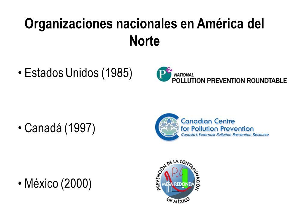 Organizaciones nacionales en América del Norte Estados Unidos (1985) Canadá (1997) México (2000)