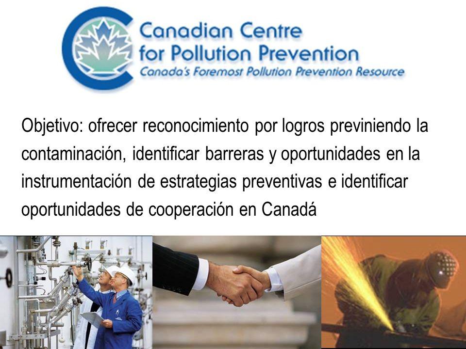 Organizada por Environment Canada y el Centro Canadiense para la Prevención de la Contaminación Comité Directivo: 14 miembros (9 de gobierno) Webpage: www.c2p2online.comwww.c2p2online.com