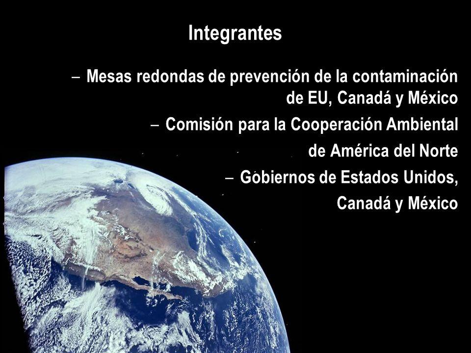 Integrantes – Mesas redondas de prevención de la contaminación de EU, Canadá y México – Comisión para la Cooperación Ambiental de América del Norte –