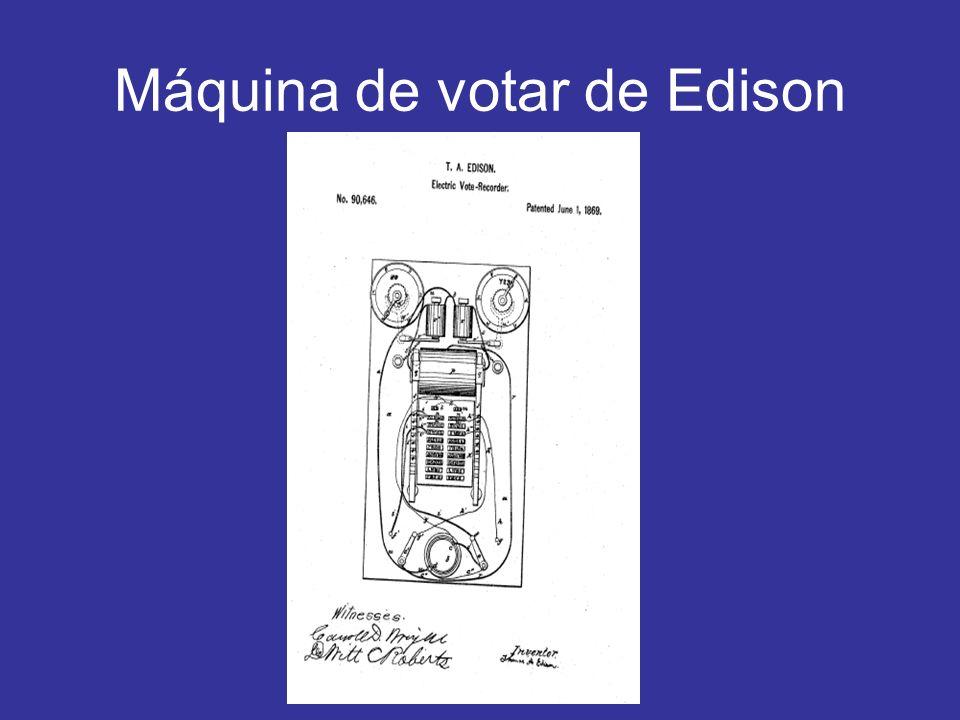 Máquina de votar de Edison
