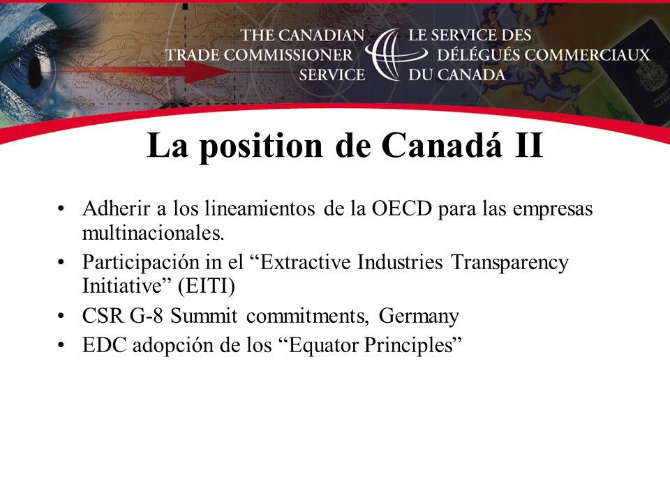 Adherir a los lineamientos de la OECD para las empresas multinacionales.