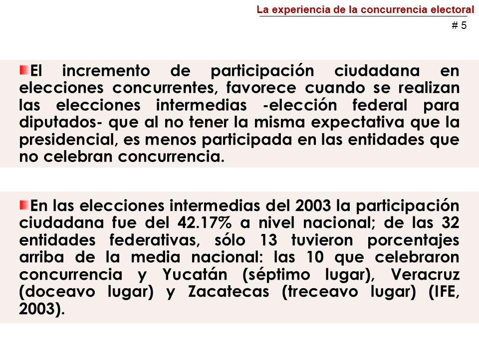 En la elección del 2006, sólo en Colima se instaló una misma mesa directiva de casilla para recibir la votación de ambas elecciones, en las otras nueve entidades, se instalaron dos mesas directivas: una para lo estatal y otra para lo federal.